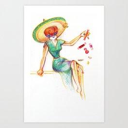 Senorita Foxy Art Print