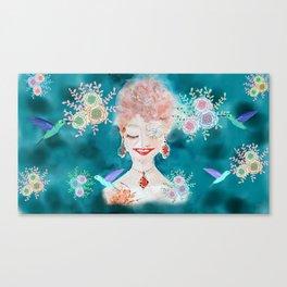 Bride in bloom Canvas Print