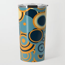 circles-blue-orange-cream Travel Mug