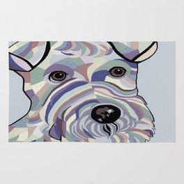 Wire Hair Terrier Denim Colors Rug