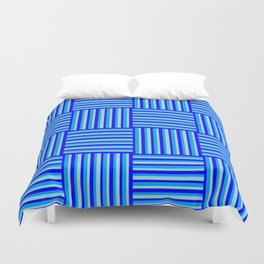 Havana Cabana - Blue Weave Stripe Duvet Cover