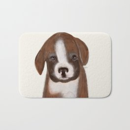 little boxer Bath Mat