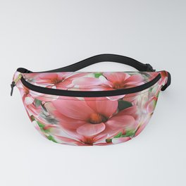 Pink magnolias, digital flower design Fanny Pack