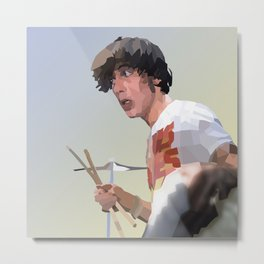Low Polygon Portrait of Keith Moon Metal Print