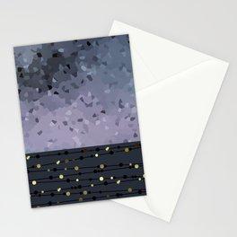 Pink-grey ,blue combo pattern . Stationery Cards