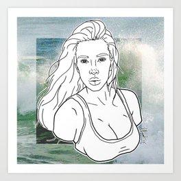 KIM KARDASHIAN Art Print