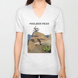 Mailbox Peak, Washington Unisex V-Neck