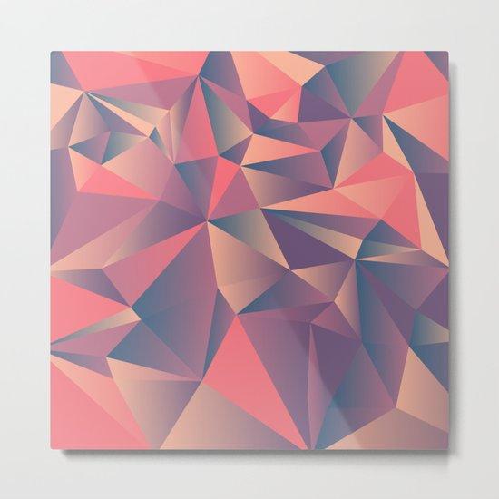 pink purple vintage color geometric Metal Print