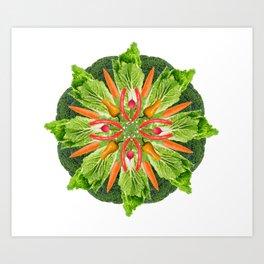 vegan mandala Art Print