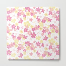 Cherry Blossom-pink Metal Print