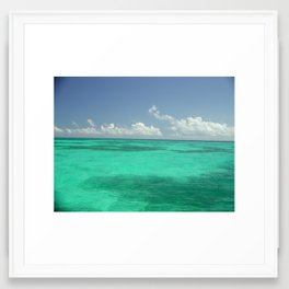 Waters off Key West, Florida Framed Art Print