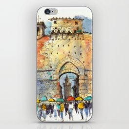Gate of San Gimignano, Tuscany iPhone Skin