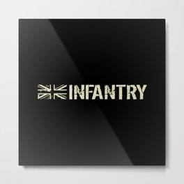 British Flag: Infantry Metal Print