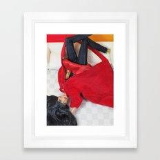 Red As Rouge Framed Art Print