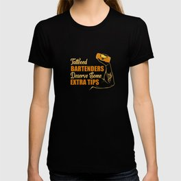 Bartender Cocktail Party Tattoo Pun T-shirt