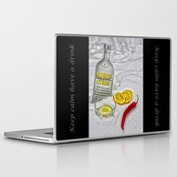 vodka Laptop & iPad Skins featuring Absolutely ice cold vodka with hot pepper   by Guna Andersone & Mario Raats - G&M Studi
