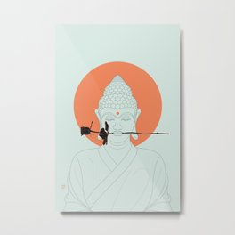 Buddha : Make Love! Metal Print