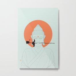 Buddha : Make Love! Metal Print