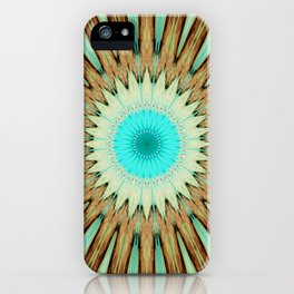 Seamless Kaleidoscope Colorful Pattern LIX iPhone Case