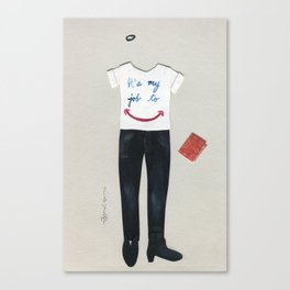 Customer Service Outfit Canvas Print