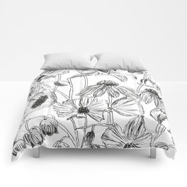 flower party black and white Comforters