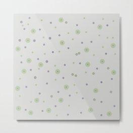 Gentle Green Dots Metal Print