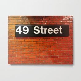49th Street Metal Print