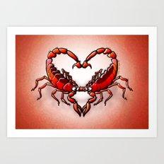 Loving Scorpions Art Print
