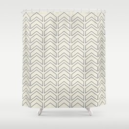 Simple Linear Geometric Shapes in Cream Shower Curtain