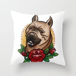 Mabari Love Throw Pillow