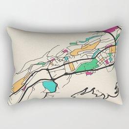 Colorful City Maps: Andorra la Vella, Andorra Rectangular Pillow