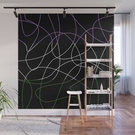 Abstract Threads – Genderqueer Pride Flag Wall Mural