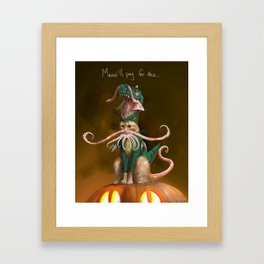 Happy Squittenween! Framed Art Print
