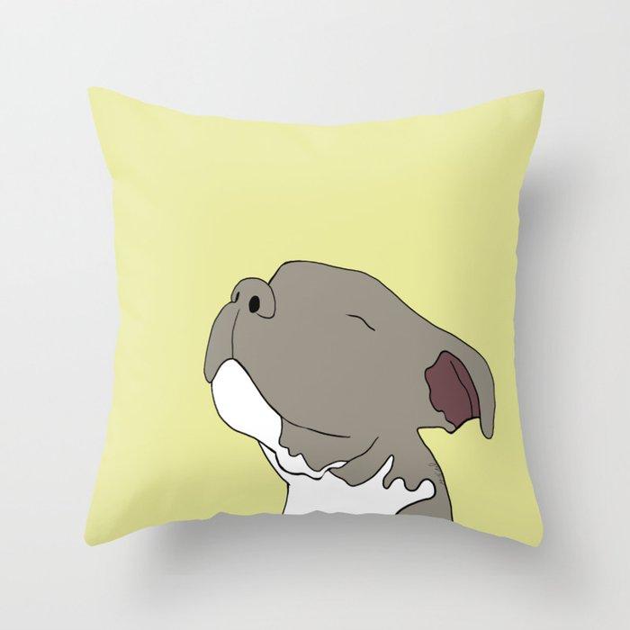 Sunny The Pitbull Puppy Throw Pillow