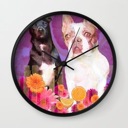 Buddha and Izzy Wall Clock