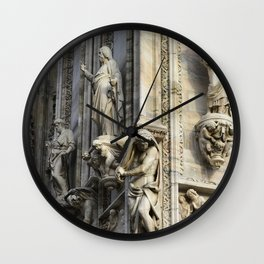 Milan Duomo Cathedral Sculpture Sudy, Italy Wall Clock