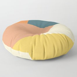 Mountains abstract (autumn morning) Floor Pillow