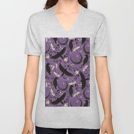 Raven Tarot Purple  Unisex V-Neck
