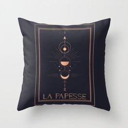 La Papesse or The High Priestess Tarot Throw Pillow