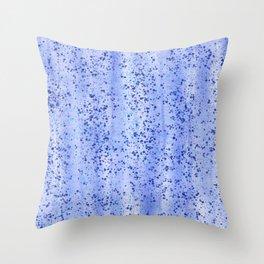 Blue Spray and Flecks Throw Pillow