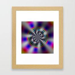 Fractal Rainbow Wheel Framed Art Print