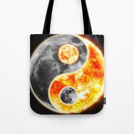 Sun Moon Day and Night Ying Yang Tote Bag
