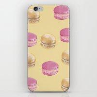 macaron iPhone & iPod Skins featuring Macaron, Macaron by Malina Syvo
