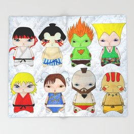 A Boy - Street fighter Throw Blanket