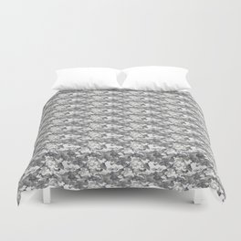Military Camouflage Pattern - Gray White Duvet Cover
