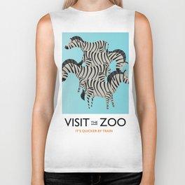Visit the Zoo Zebra Biker Tank