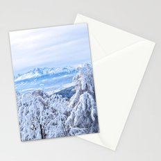 White out #mountains #winter Stationery Cards