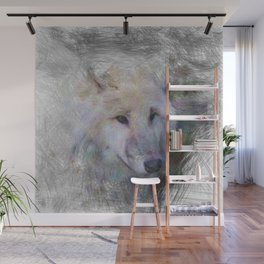 Artistic Animal Wolf Wall Mural