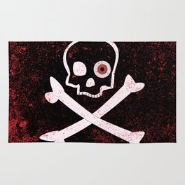 Jolly Roger With Eyeballs Rug