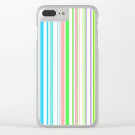 Stripes Colorful Simple Pattern Summer Clear iPhone Case